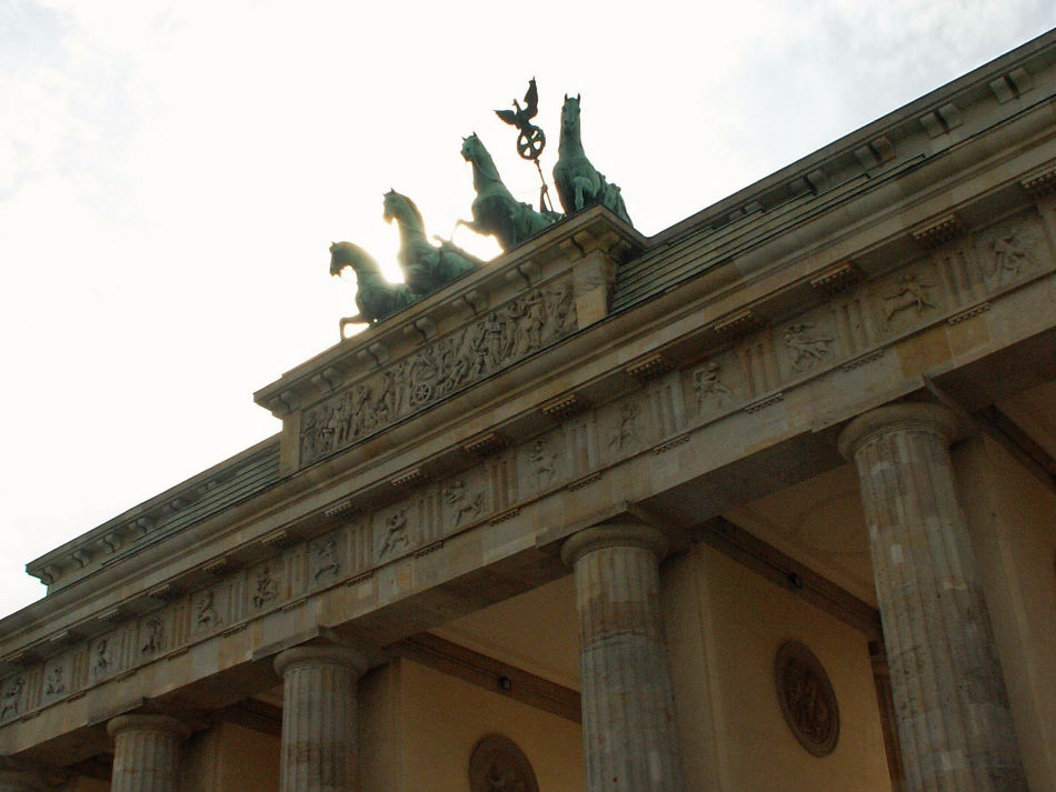 Quadriga auf dem Brandenburger Tor in Berlin